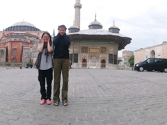 Becky and Ichi in a double trouble pose near the Topkapi Palace