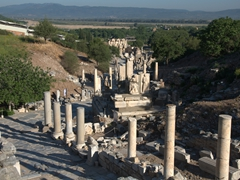 View of Curetes Street leading to the library; Ephesus