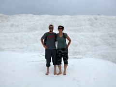 "Checking out Pamukkale (aka ""Cotton Castle"")"