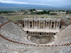 The amazing vista from Hierapolis' theater