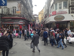 Busy Istanbul street scene