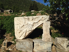 Goddess Nike frieze on display at Ephesus