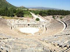 Panoramic view of the Great Theater; Ephesus
