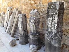 Tombstones at İsabey Mosque; Selcuk