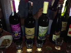 After free wine tasting, we bought three bottles of the delicious fruity wines that Sirince is famous for