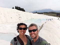 Loving the barefoot hike up Pamukkale