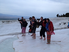Photo time at Pamukkale!
