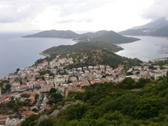 View of Kas from the lookout point...well worth the climb!