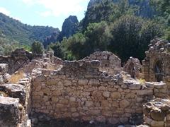 Olympos beach Lycian ruins