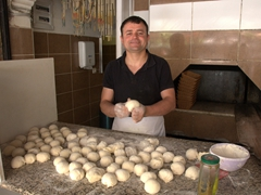 Making the best bread to accompany our fresh fish meal; Fethiye