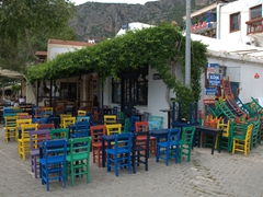 Colorful restaurant; Kas