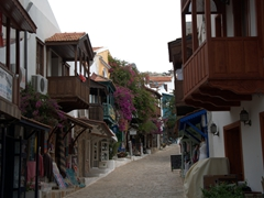 Quaint shopping street in Kas