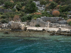 Sunken city ruins of Kekova