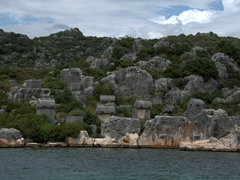 Lycian rock tombs; Simena Island