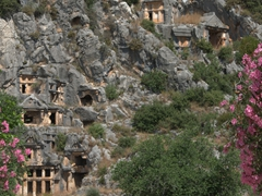 Ancient Lycian tombs of Myra