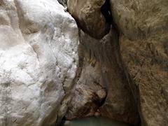 Precarious boulder; Saklikent Gorge