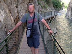 Big smile after our 4 km walk through Saklikent Gorge
