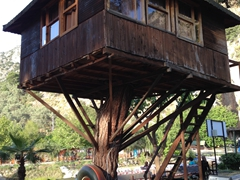 Treehouse accommodation at Saklikent Gorge Club