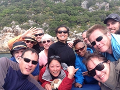 Our happy group returns from Kekova Sunken City (Kevin, Anthony, Gungi, Robby, Connie, Becky, Ichi, Denise, Andy, Lars, Helen, Kyle)