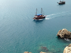 Boat trips are a popular day excursion; Antalya