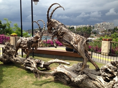 Wooden sculpture; Antayla