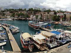 Panoramic view of Antalya harbor