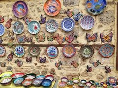 Beautiful ceramics in the touristy section of Antalya