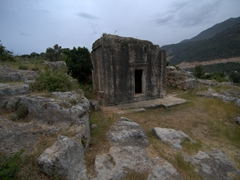 Lycian rock tomb near Kas' amphitheater