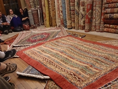 After our free wine and dinner, there was a no pressure carpet demonstration; Sultan Carpets in Goreme