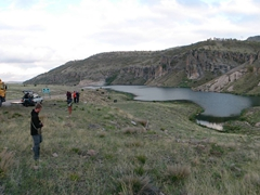 Lakeside bushcamp near Konya (freezing cold accompanied by frog chirping)