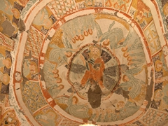 Ceiling fresco of Church of Pantassa; Ihlara Valley