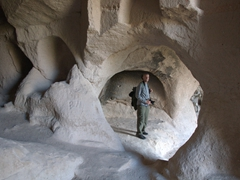 Robby exploring the cave churches of Ihlara Valley