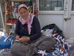 Friendly doll maker in Derinkuyu