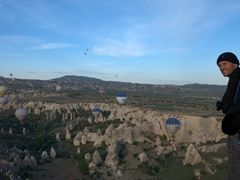 Robby enjoying the view of Cappadocia