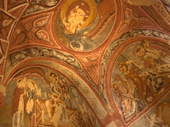 Gorgeous frescoes at Goreme's Open Air Museum