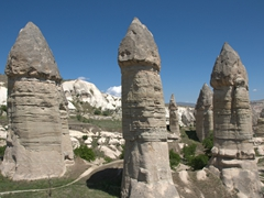 "The large penis like structures of aptly named ""Love Valley""; Cappadocia"