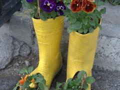 Flower boots; Cappadocia