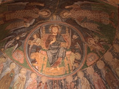 Amazing ceiling fresco of Halci Church; Rose Valley