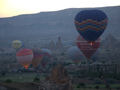 View at 5:30 am - a daily occurence in Cappadocia (one of the best places in the world for a hot air balloon)