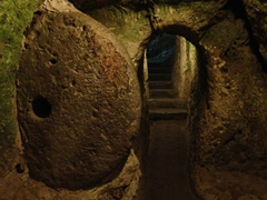 Stone door; Derinkuyu underground city
