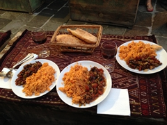 Delicious free dinner at Sultan Carpets; Goreme