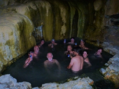 "Huddled in a ""hot"" spring, somewhere near Ihlara Valley"