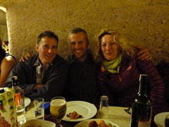 Anthony, Robby and Gill at Turkish dance night (all the alcohol you can drink - a great way to celebrate Ant's birthday)