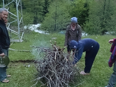 Getting a bush camp fire ready; Kackar Mountains