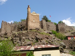 Ispir Castle (built by the Ilhanli State in the 12th century and later reconstructed by Suleyman the Magnificent in the 16th century)