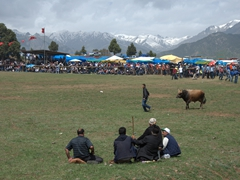 Locals sit and gossip the day away during the Kilickaya bull festival