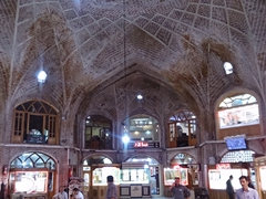 Interior dome of Tabriz bazaar, a UNESCO heritage site