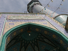 Blue tiled mosques are a common sight in Tabriz