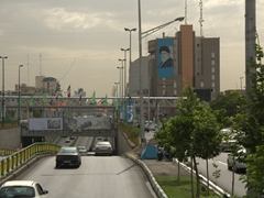Billboard of the Grand Ayatollah Khomeini; Tehran