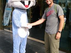 Bugs Bunny greeting Robby in Tabriz